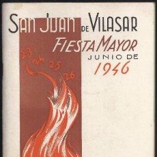 Coleccionismo: 1946. VILASSAR DE MAR. OPÚSCULO 30 PÁGS. PROGRAMA OFICIAL FIESTA MAYOR. MUY CURIOSO E INTERESANTE.. Lote 100283619