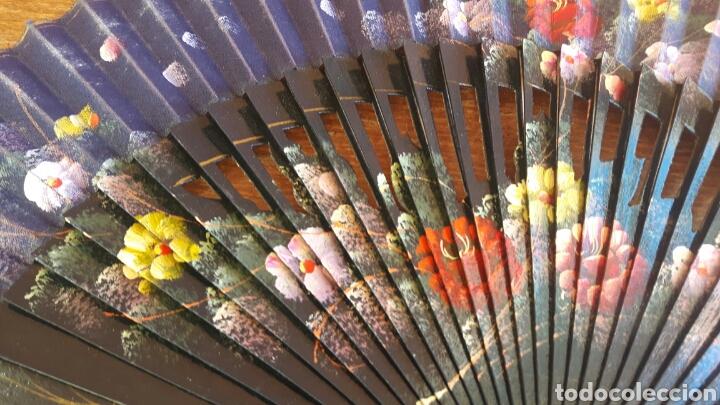 Coleccionismo: Abanico de madera tallada - Foto 3 - 100574464