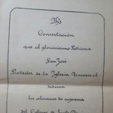 Coleccionismo: PROGRAMA DEL COLEGIO DE SANTO DOMINGO DE ORIHUELA 1896 ALICANTE. Lote 101168815