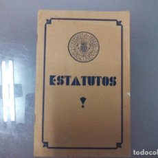 Coleccionismo: TARRAGONA ESTATUTOS DE LA COOPERATIVA OBRERA TARRACONENSE. Lote 101185227
