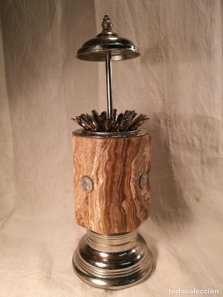 Coleccionismo: cigarrera musical años 50-60 en metal cromado y agata - Foto 25 - 101369287