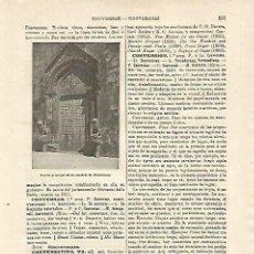 Coleccionismo: LAMINA ESPASA 14885: CATEDRAL DE CONVERSANO ITALIA. Lote 101437551