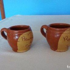Coleccionismo: ANTIGUA JARRA DE BARRO RECUERDO DE SEGOVIA - 2 JARRAS AÑOS 60. Lote 101457631