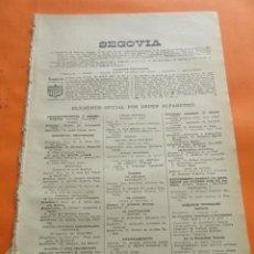 Coleccionismo: SEGOVIA 1947 - ALDEA REAL AÑE-COMERCIANTES PROPIETARIOS LAS FUERZAS VIVAS QUIZAS ENCUENTRES FAMILIAR. Lote 101474363