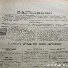Coleccionismo: SANTANDER 1947 - SANTANDER ASTILLERO CAMARGO VALLE DE PIELAGO LEER INT. BUSCA A TUS FAMILIARES. Lote 101610351