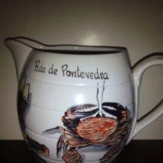 Coleccionismo: DOS JARRAS PARA RIBEIRO. UNS RECUERDO PONTEVEDRA. Lote 101757690