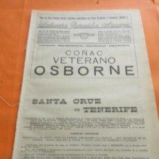 Coleccionismo: SANTA CRUZ TENERIFE 1947 - SANTA CRUZ DE TENERIFE BUSCA A TUS ANTEPASADOS O FAMILIARES LEER INTERIOR. Lote 101767035