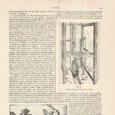 Coleccionismo: LAMINA ESPASA 19324: MAQUINA ELEVADORA. Lote 101975107
