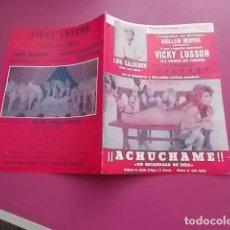 Coleccionismo: PROGRAMA DE TEATRO / TEATRO CERVANTES/ ACHUCHAME VICKY LUSSON 1977. Lote 102065275