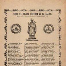 Coleccionismo: GOIGS NTRA. SRA. DE LA SALUT DE VILADORDIS (IMP. ROCA, MANRESA, 1900). Lote 102094307
