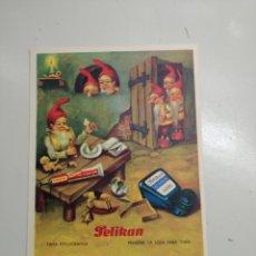Coleccionismo: TARJETA PELIKAN PAPEL SECANTE.. Lote 102374215
