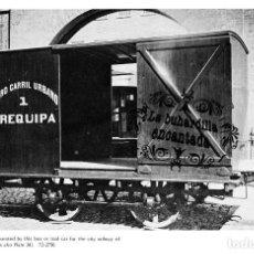 Coleccionismo: LAMINA FERROCARRIL URANO DE AREQUIPA PERU TRAMWAY CARS - FERROCARRIL TRANVIAS TRANVIA. Lote 102378315