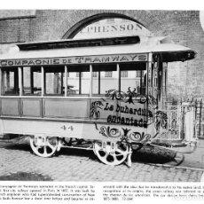 Coleccionismo: LAMINA TRANVIA TRANVIAS DE PARIS FRANCIA TRAMWAY CARS - FERROCARRIL TRANVIAS TRANVIA. Lote 102379051