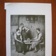 Coleccionismo: CONVERSACIÓN ENTRE UN ARTESANO Y DOS MUJERES, 1906. Lote 102734655