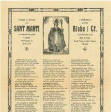 Coleccionismo: GOIGS A SANT MARTI BISBE VENERAT A SANT PERE DE LES PRESES - 1962. Lote 102952023