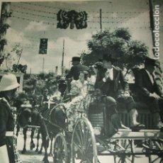 Coleccionismo: SEVILLA FERIA DE ABRIL LAMINA HUECOGRABADO AÑOS 40 17,5 X 23 CMTS. Lote 103234827