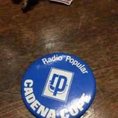 Coleccionismo: CHAPA ALFILER RADIO POPULAR CADENA COPE. Lote 103421675
