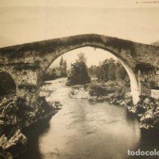 Coleccionismo: CANGAS DE ONIS ASTURIAS LAMINA HUECOBRABADO AÑOS 40. Lote 103426059