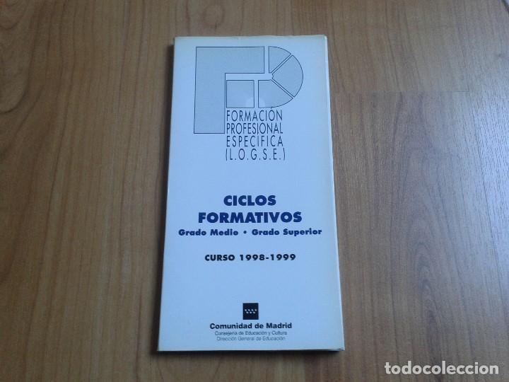 15 Fichas Ciclos Formativos L O G S E 98 99 Grado Medio Y Grado Superior Comunidad De Madrid