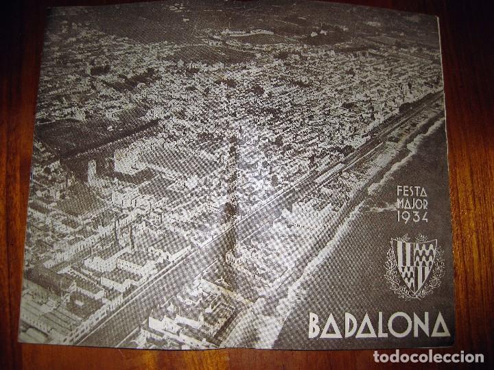 PROGRAMA FESTA MAJOR BADALONA 1934 . 8 PÁG. FIESTA MAYOR . PUBLICIDAD LOCAL (Coleccionismo - Laminas, Programas y Otros Documentos)