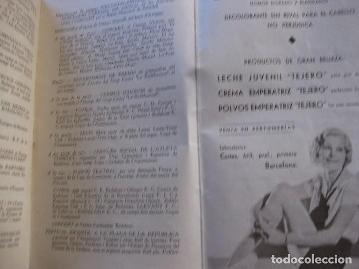 Coleccionismo: programa festa major badalona 1934 . 8 pág. fiesta mayor . publicidad local - Foto 3 - 103727819