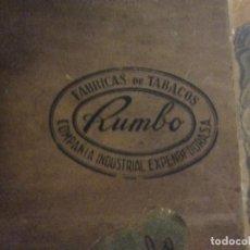 Coleccionismo: ANTIGUA CAJA DE PUROS FABRICA DE TABACOS RUMBO. COMPAÑIA INDUSTRIAL EXPENDEDORA SA.. Lote 103887827