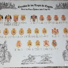 Coleccionismo: ESCUDOS DE LOS REYES DE ESPAÑA . Lote 104282495