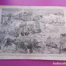 Coleccionismo: CARTEL ANTIGUO LAS INUNDACIONES DEL SENA EN PARIS Y SUS ALREDEDORES . Lote 104293395