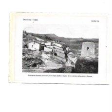 Coleccionismo: AÑO 1922 ODENA VISTA GENERAL PUERTA ENTRADA DEL CASTILLO CASTELL LAMINA FOTOGRAFICA TIPO POSTAL. Lote 104309859