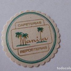 Coleccionismo: POSAVASOS REPOSTERIA MANILA. Lote 104576963