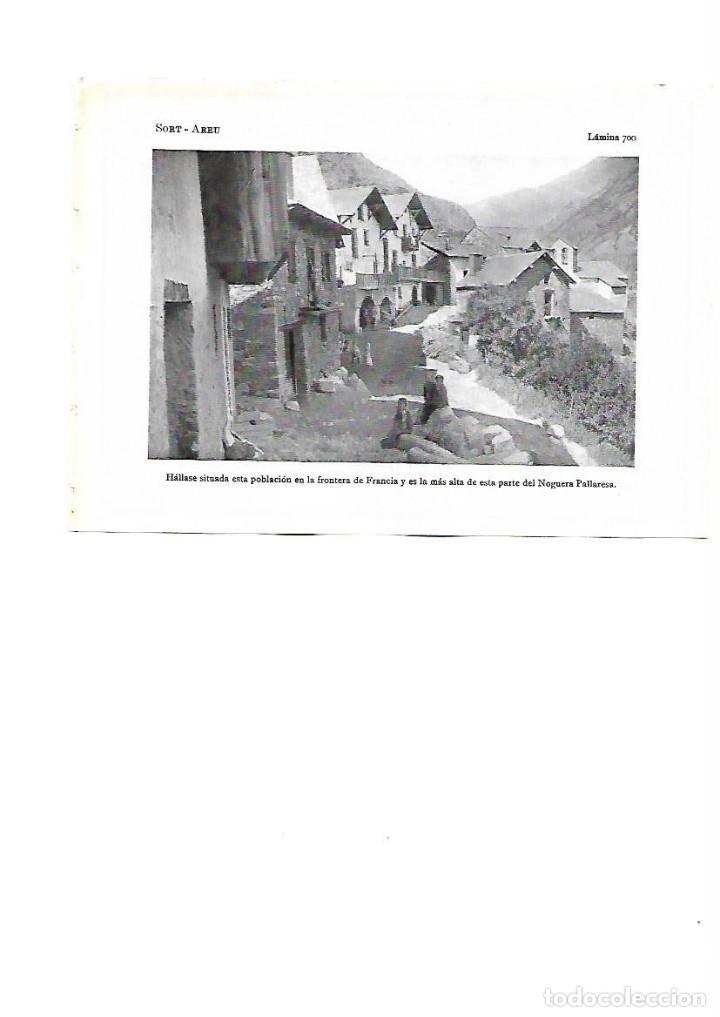AÑO 1922 AREU ALIS PALLARS SOBIRA FRONTERA FRANCIA NOGUERA LAMINA FOTOGRAFICA ANIMADA TIPO POSTAL (Coleccionismo - Laminas, Programas y Otros Documentos)