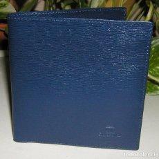 Coleccionismo: TARJETERO CARTERA EN SIMIL PIEL COLOR AZUL MARINO DEL BANCO BANCOVAL PERFECTO SIN USAR . Lote 105042175