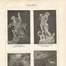 Coleccionismo: LAMINA ESPASA 21083: ESCULTURAS DE PEDRO PUGET. Lote 105328236