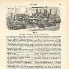 Coleccionismo: LAMINA ESPASA 23155: BOMBAS PARA EL TRANSPORTE DE PETROLEO. Lote 105335155