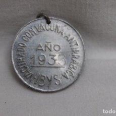 Coleccionismo: MEDALLA VACUNA ANTIRRABICA YBIS, AÑO 1935, INSTITUTO DE BIOLOGIA Y SUEROTERAPIA, MADRID. Lote 105425135