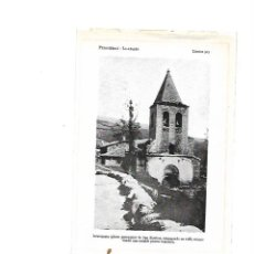 Coleccionismo: AÑO 1922 LLANARS ROMANICO IGLESIA SANT ESTEVE PUERTA ROMANICA RIPOLLES GIRONA CAMPRODON GERONA. Lote 105670111