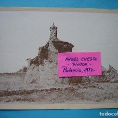 Coleccionismo: LAMINA DEL PINTOR ANGEL CUESTA CALVO - POZO DE URAMA (PALENCIA) 1979 IMPRENTA MERINO - 26,5 X 20 CM. Lote 105795291