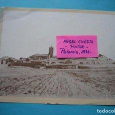 Coleccionismo: LAMINA DEL PINTOR ANGEL CUESTA CALVO - ALBA DE CERRATO (PALENCIA) 1979 IMPRENTA MERINO 26,5 X 20 CM. Lote 105797703