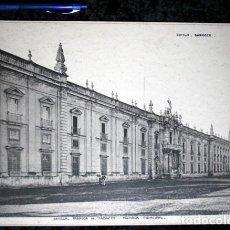 Coleccionismo: FOTOGRAFIA SEVILLA FABRICA TABACOS FACHADA PRINCIPAL - 38X27CM - CIRCA 1890. Lote 105819559