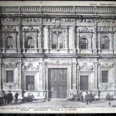 Coleccionismo: FOTOGRAFIA - SEVILLA - AYUNTAMIENTO - DETALLE DE LA FACHADA - 37,5X28CM - CIRCA 1890. Lote 105821635