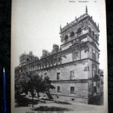 Coleccionismo: FOTOGRAFIA - SALAMANCA - PALACIO MONTEREY - FACHADA - 37X30CM - CIRCA 1890. Lote 105879951