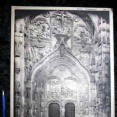 Coleccionismo: FOTOGRAFIA - SALAMANCA - CATEDRAL NUEVA - PUERTA PRINCIPAL - 39X30CM - CIRCA 1890. Lote 105904171