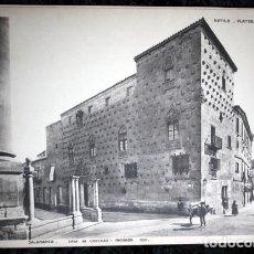 Coleccionismo: FOTOGRAFIA - SALAMANCA - CASA DE LAS CONCHAS - FACHADA - 39X28CM - CIRCA 1890. Lote 105904255