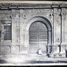 Coleccionismo: FOTOGRAFIA - SEVILLA - AYUNTAMIENTO - PUERTA - 40X30CM - CIRCA 1890. Lote 105906323