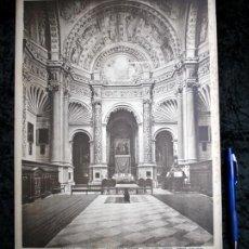 Coleccionismo: FOTOGRAFIA - SEVILLA - CATEDRAL - SACRISTIA MAYOR - 38X29CM - CIRCA 1890. Lote 105906555