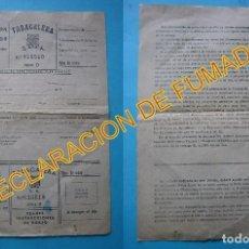 Coleccionismo: TABACO - DECLARACION DE FUMADOR - TABACALERA SERIE D NUMERADA - HOJA COMPLETA SIN RELLENAR - VER. Lote 105931431