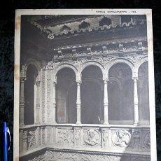 Coleccionismo: FOTOGRAFIA - ZARAGOZA - CASA ZAPORTA PATIO - 37X27CM - CIRCA 1890. Lote 105996531