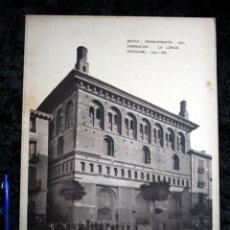 Coleccionismo: FOTOGRAFIA - ZARAGOZA - LONJA - FACHADA - 37X27CM - CIRCA 1890. Lote 106186063