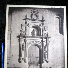 Coleccionismo: FOTOGRAFIA - SALAMANCA - MONASTERIO DUEÑAS - PUERTA IGLESIA - 34X28CM - CIRCA 1890. Lote 106186587