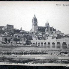 Coleccionismo: FOTOGRAFIA - SALAMANCA - VISTA GENERAL CATEDRAL - TORMES - 38X24CM - CIRCA 1890. Lote 106186803